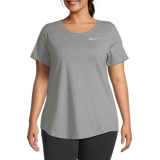 Nike Plus Womens Crew Neck Short Sleeve Graphic T-Shirt