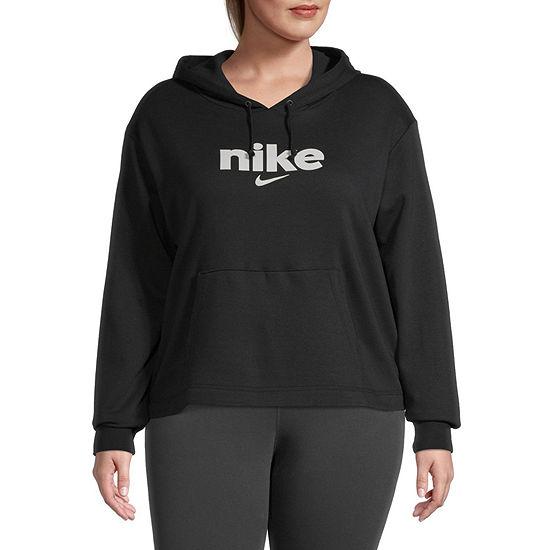 Nike Womens Hooded Neck Long Sleeve Plus Hoodie