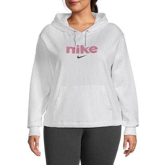 Nike Womens Plus Hooded Neck Long Sleeve Hoodie