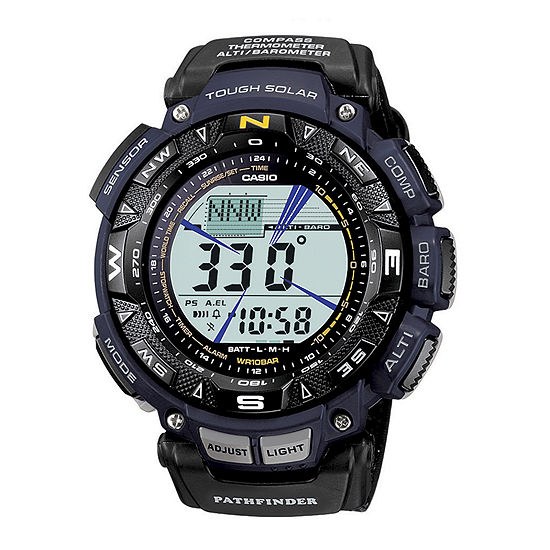 Casio Mens Digital Black Strap Watch-Pag240b-2cr