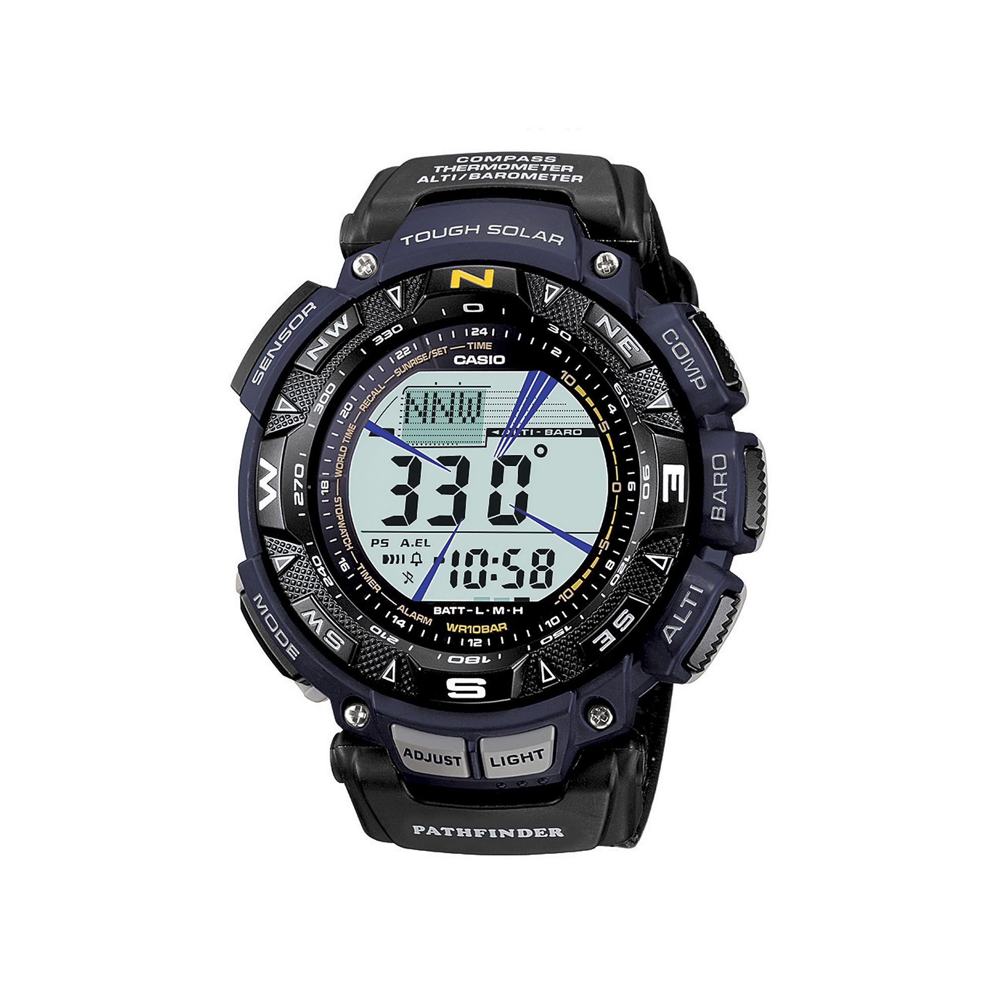 Casio Pathfinder Tough Solar Triple Sensor Mens Watch PAG240B-2CR