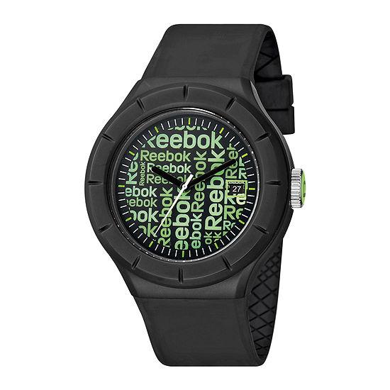 Reebok® Training WarmUp Wallpaper Mens Black Strap Watch