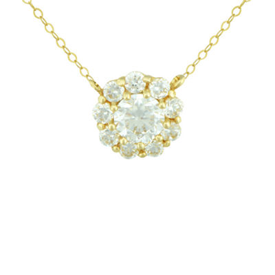 Petite Lux™ Cubic Zirconia 10K Yellow Gold Necklace