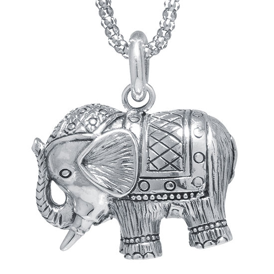 Sterling silver elephant pendant sterling silver elephant pendant necklace aloadofball Image collections