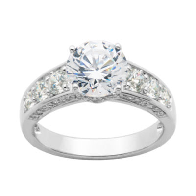DiamonArt® Cubic Zirconia Sterling Silver Ring
