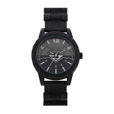 DC Comics® Mens Black Strap Watch