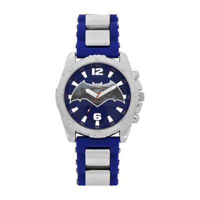 DC Comics® Mens Black Silver Strap Watch