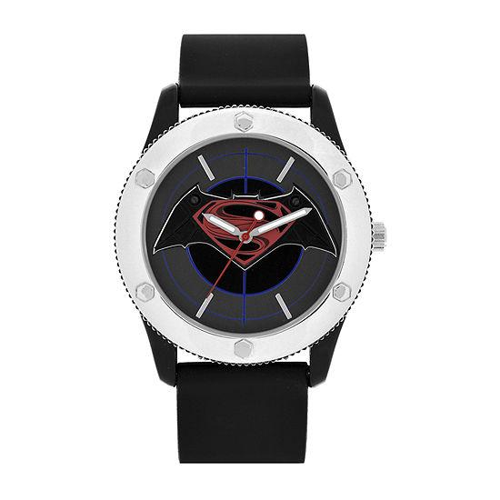 DC Comics® Mens Black Strap Watch