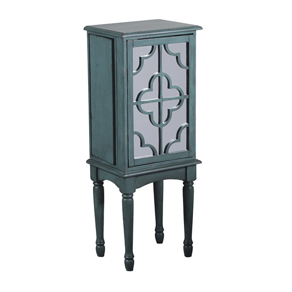 Mazie Teal Jewelry Armoire
