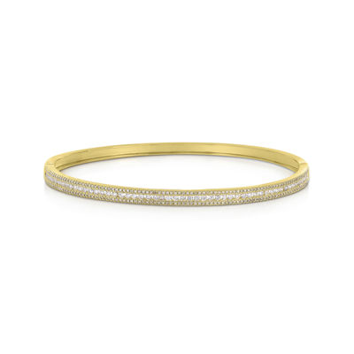 LIMITED QUANTITIES 1 CT. T.W. Diamond 14K Yellow Gold Bangle