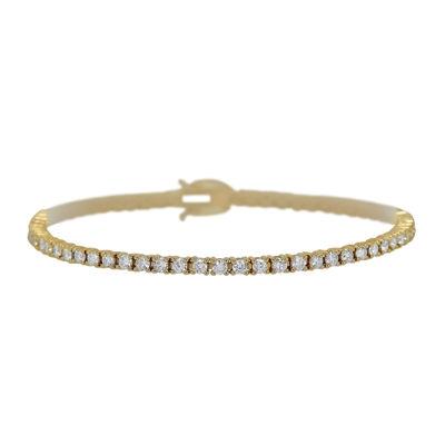 LIMITED QUANTITIES 3¾ CT. T.W. Diamond 14K Yellow Gold Bracelet