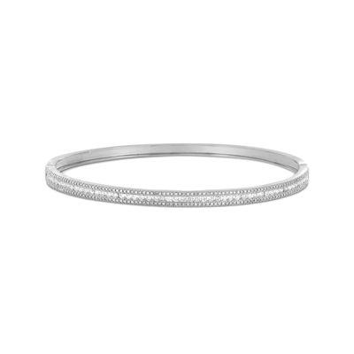 LIMITED QUANTITIES 1 CT. T.W. Diamond 14K White Gold Bangle