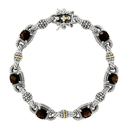 Shey Couture Smoky Quartz Sterling Silver Antiqued Bracelet