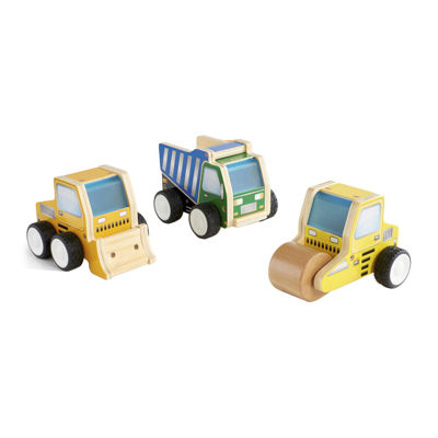 Guidecraft Jr. Plywood 3-pc. Construction Vehicle Set
