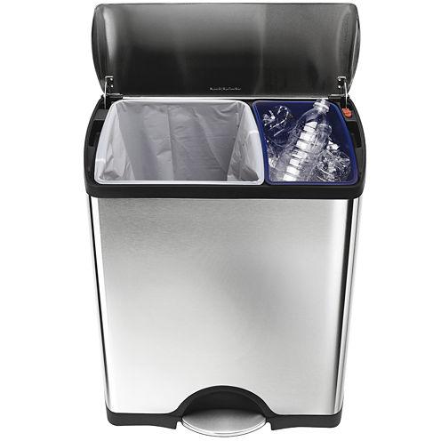 simplehuman® 46-Liter Rectangular Stainless Steel Recycler