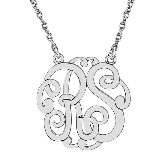 Personalized 25mm Monogram Necklace