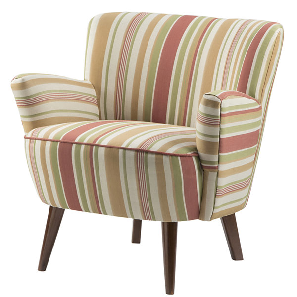 Madison Park Laura Curvy Plush Striped Chair