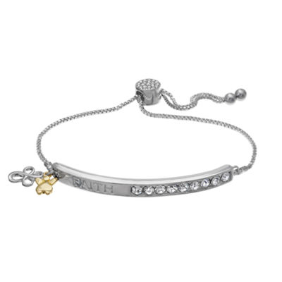 Sparkle Allure Womens White Stretch Bracelet