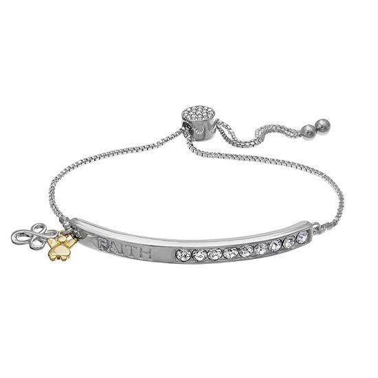 Sparkle Allure White 7.5 Inch Box Stretch Bracelet