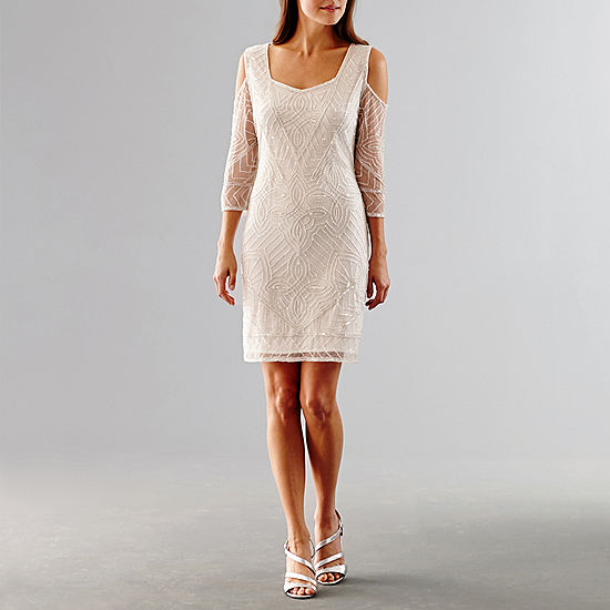 Msk Cold Shoulder Sequin Wedding Dress JCPenney