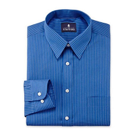 Stafford performance wrinkle free broadcloth dress for Stafford big and tall shirts