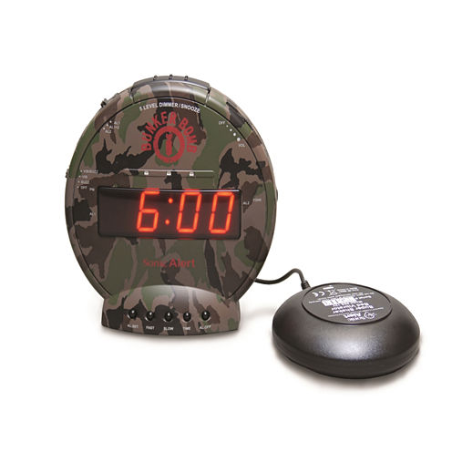 Sonic Alert SA-SBC575SS Bunker Bomb Alarm Clock with Super Shaker