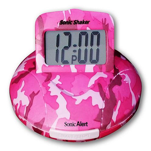 Sonic Alert SA-SBP100C Sonic Boom Alarm Clock in Pink Camo