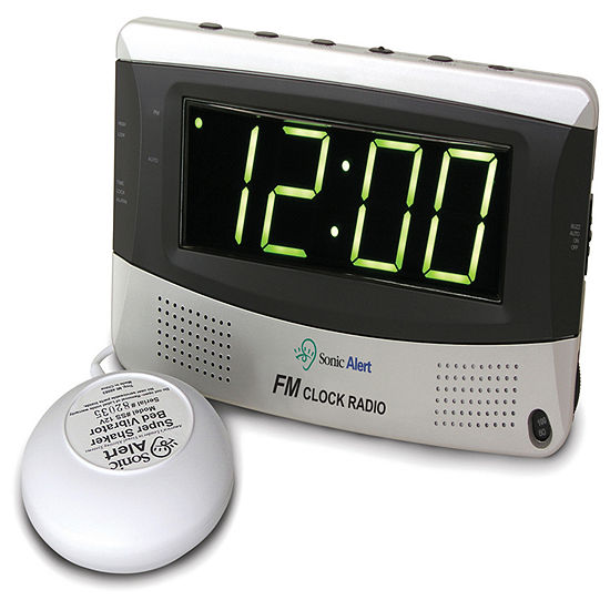 Sonic Alert SA-SBR350SS Sonic Boom Alarm Clock with Super Shaker and AM/FM Radio
