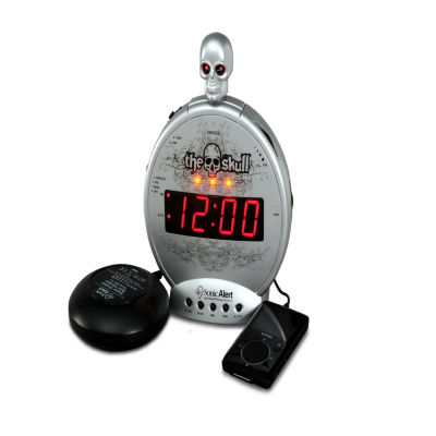 "Sonic Alert SA-SBS550BC ""The Skull"" Alarm Clock with Bone Crusher Bed Shaker"
