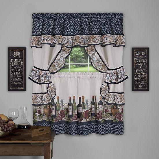 Chateau 3-pc. Rod-Pocket Kitchen Curtain Set