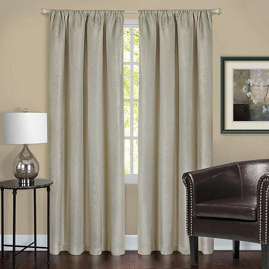 Harmony Blackout Rod-Pocket Single Curtain Panel