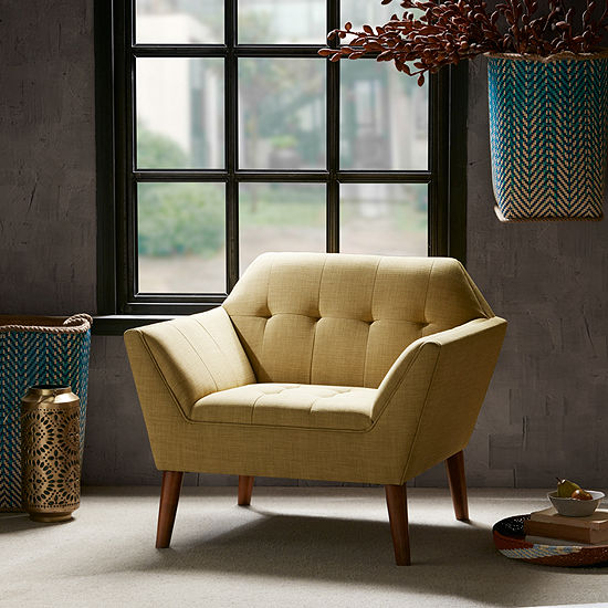 INK + IVY Newport Tufted Fabric Club Chair
