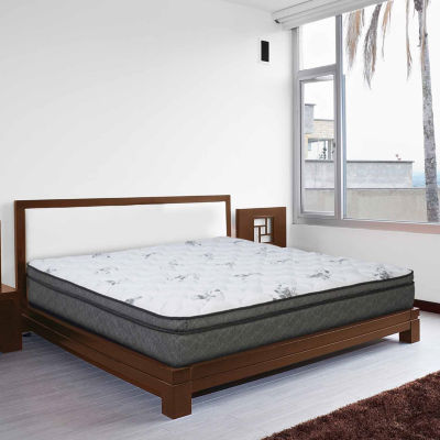 "Wolf Corporation's Tranquility Wrapped Coil and Memory Foam Hybrid 12"" Boxtop Mattress"""