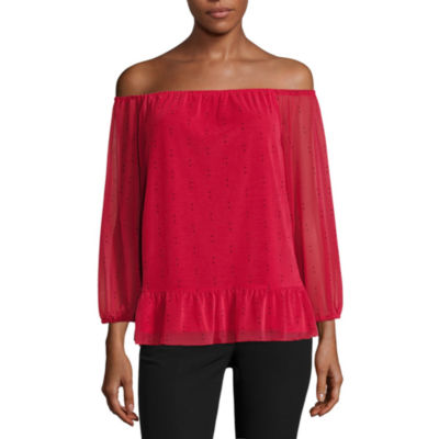 Worthington Off The Shoulder Smocked Top