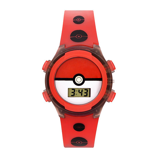 Pokemon Boys Red Strap Watch-Pok3145jc