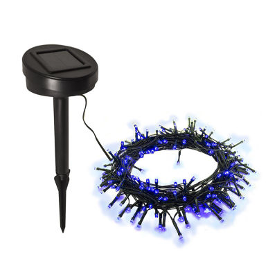 ALEKO 105 LED Solar Powered Holiday Christmas Decorating Fairy Party String Lights