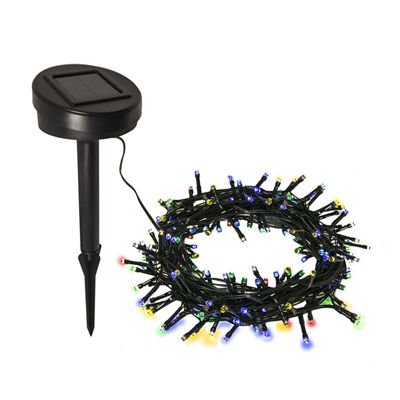 ALEKO 100 LED Solar Powered Holiday Christmas Decorating Fairy Party String Lights Lot of 2