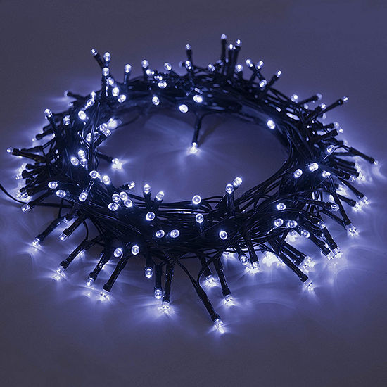 aleko 105 led solar powered holiday christmas decorating fairy party string lights lot of 2 - Solar Powered Christmas Wreath