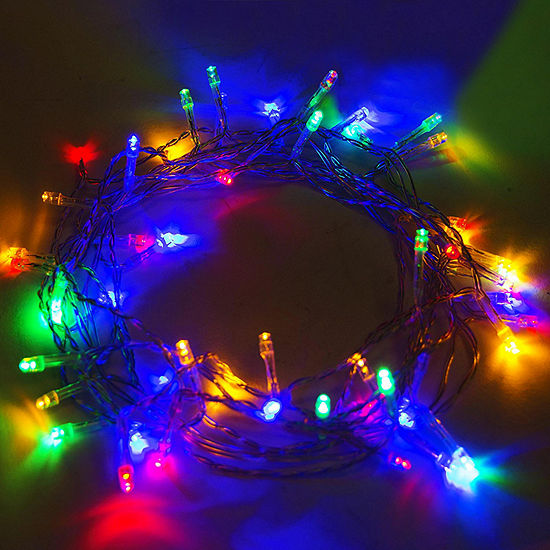 ALEKO Solar Powered 50 LED Holiday Christmas Party String Lights Lot of 2