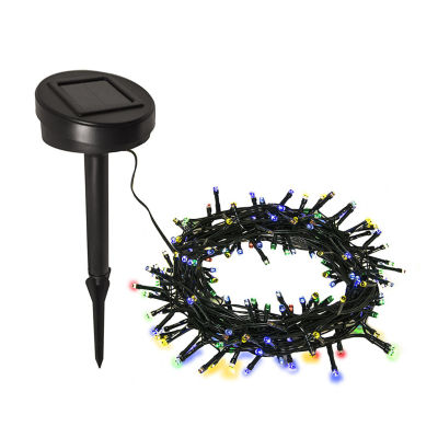 ALEKO Solar Powered 100 LED Holiday Christmas Party String Lights Lot of 4