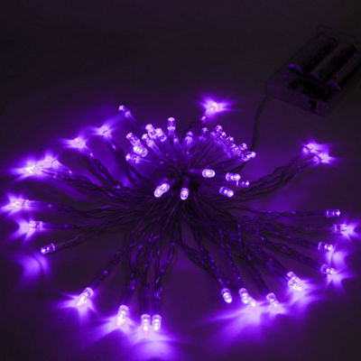 ALEKO 50 LED Battery Operated Christmas Holiday Party String Lights