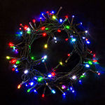 Extendable Electric Powered 100 LED Christmas Holiday Party Lights Lot of 2