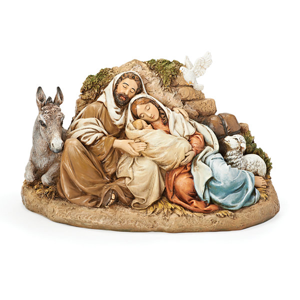 Roman 9.5 Inch Restful Holy Family Nativity Set