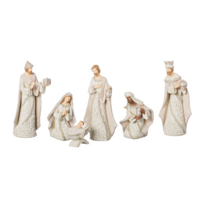 Roman 7.5 Inch Ivory Lace 6-pc. Nativity Set