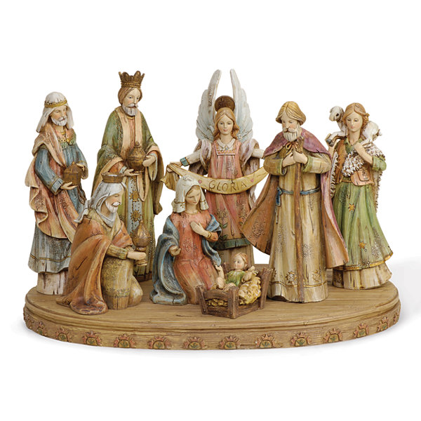 Joseph'S Studio Wood Look 8-pc. Nativity Set