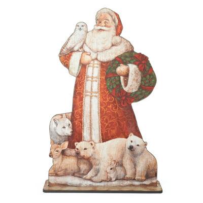 Joseph'S Studio 42.75 Inch Standing Santa Floor Plaque Santa Figurine