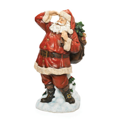 Roman 26 Inch Looking For Deer Santa Figurine