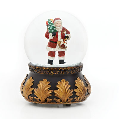 Roman 7 Inch Books Of Secrets Santa Snow Globe