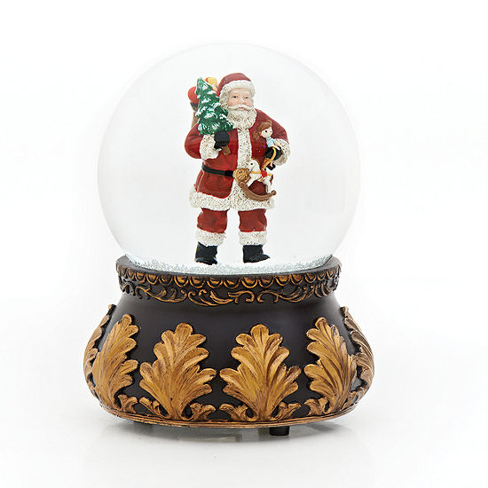 Roman 7 Inch Books Of Secrets Santa Snow Globe