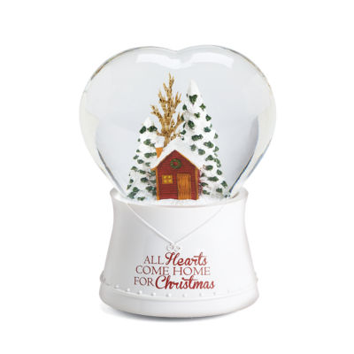 Roman Heart Musical Christmas Tree Snow Globe